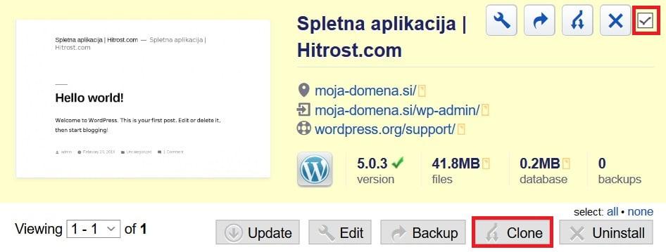 spletno aplikacijo spletno aplikacijo