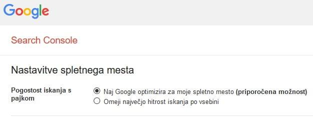 google search console robots.txt